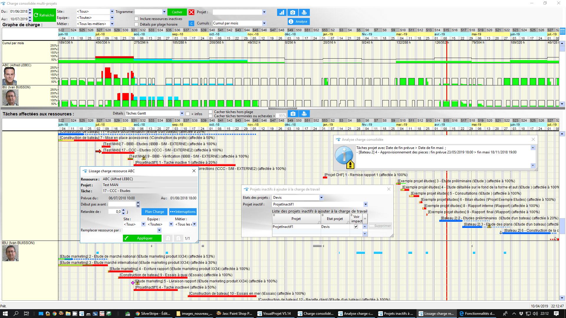 Fonctionnalits dtailles de visualprojet logiciel de gestion de charge travail logiciel gestion projet visualprojet ccuart Images